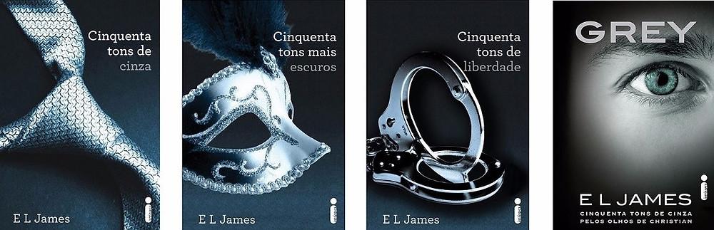 """Coleção """"Cinquenta Tons de Cinza"""" de E. L. James"""