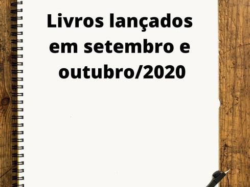 Mercado Editorial: Livros - Lançamentos em setembro e outubro de 2020