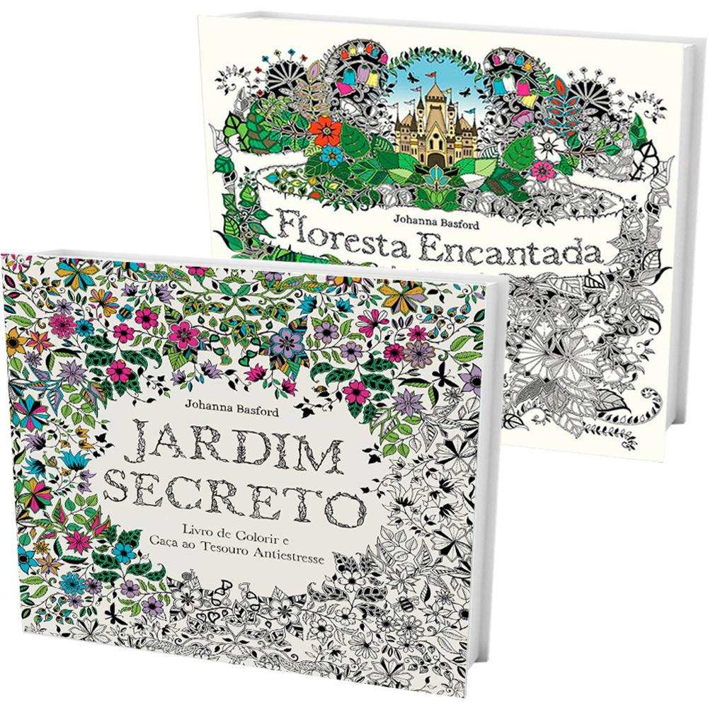 """""""Jardim Secreto"""" e """"Floresta Encantada"""" de Johanna Basford"""