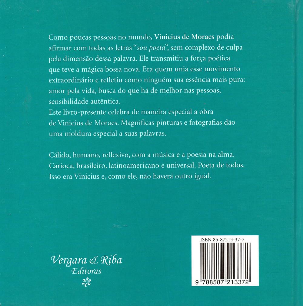 Livro O Poeta Não Tem Fim de Vinicius de Moraes