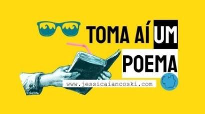 Podcast Toma Aí Um Poema é voltado para a declamação poética e é uma iniciativa de Jéssica Iancoski