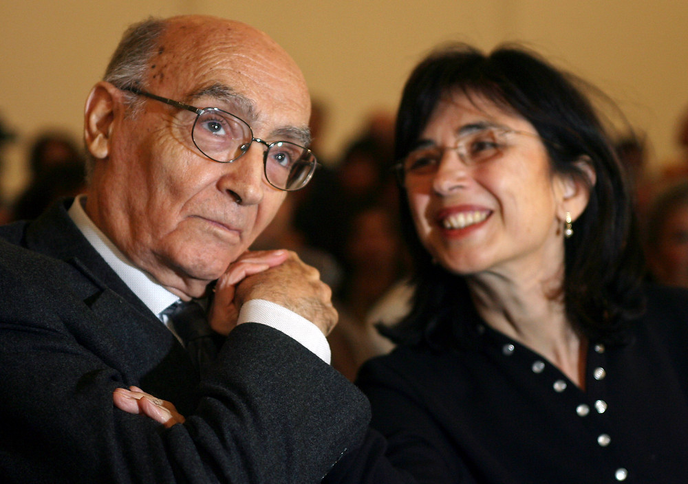 José Saramago e Pilar del Río no filme José e Pilar (Jose y Pilar: 2010)