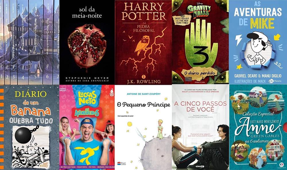 Ranking dos dez livros infantojuvenis mais vendidos em 2020 no Brasil