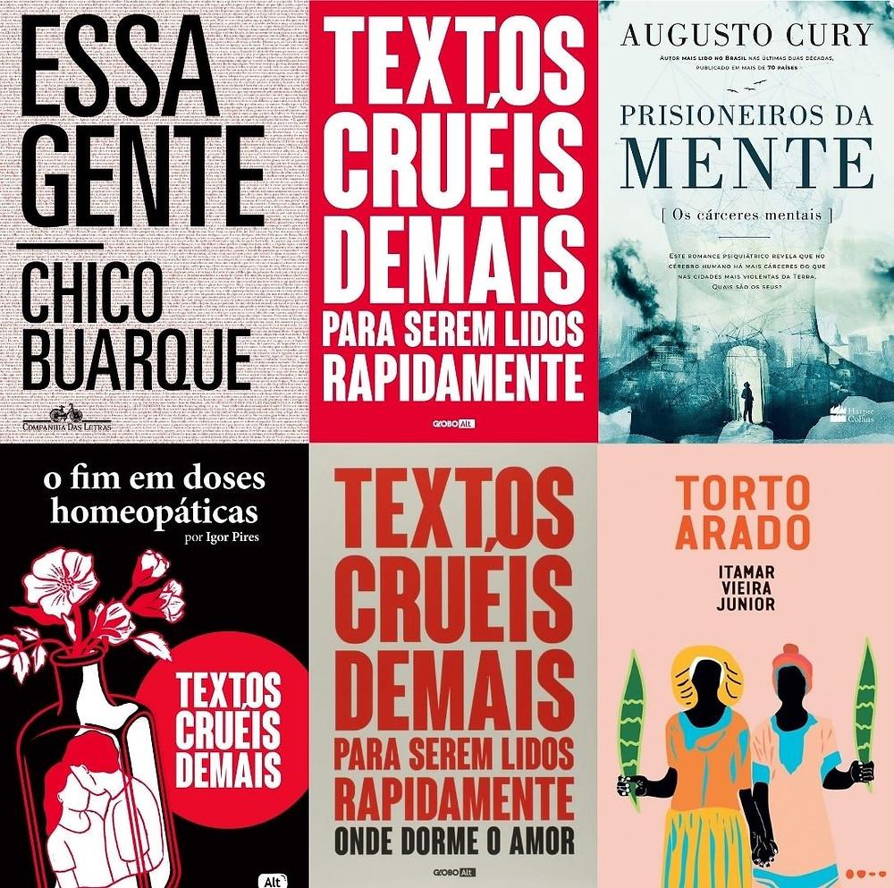 Mercado Editorial - Ranking das ficções brasileiras mais vendidas em 2020