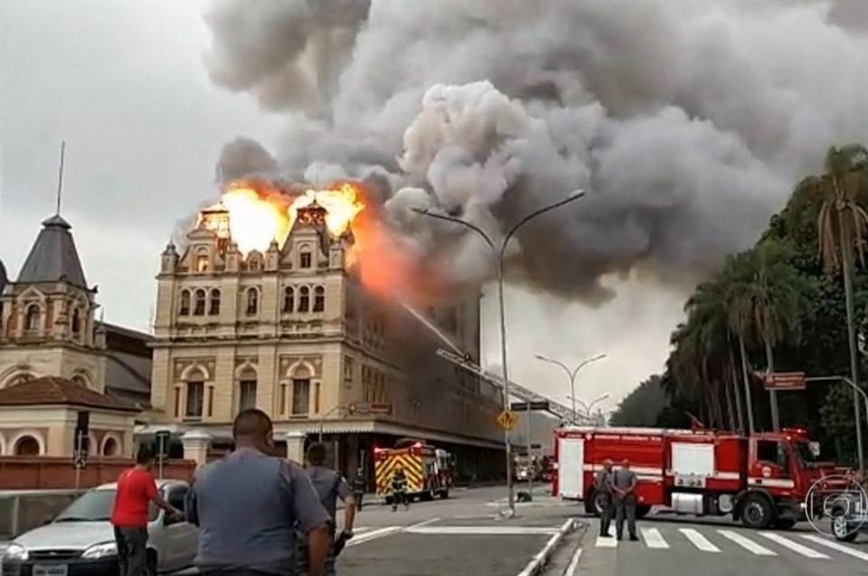 Incêndio do Museu da Língua Portuguesa em 2015