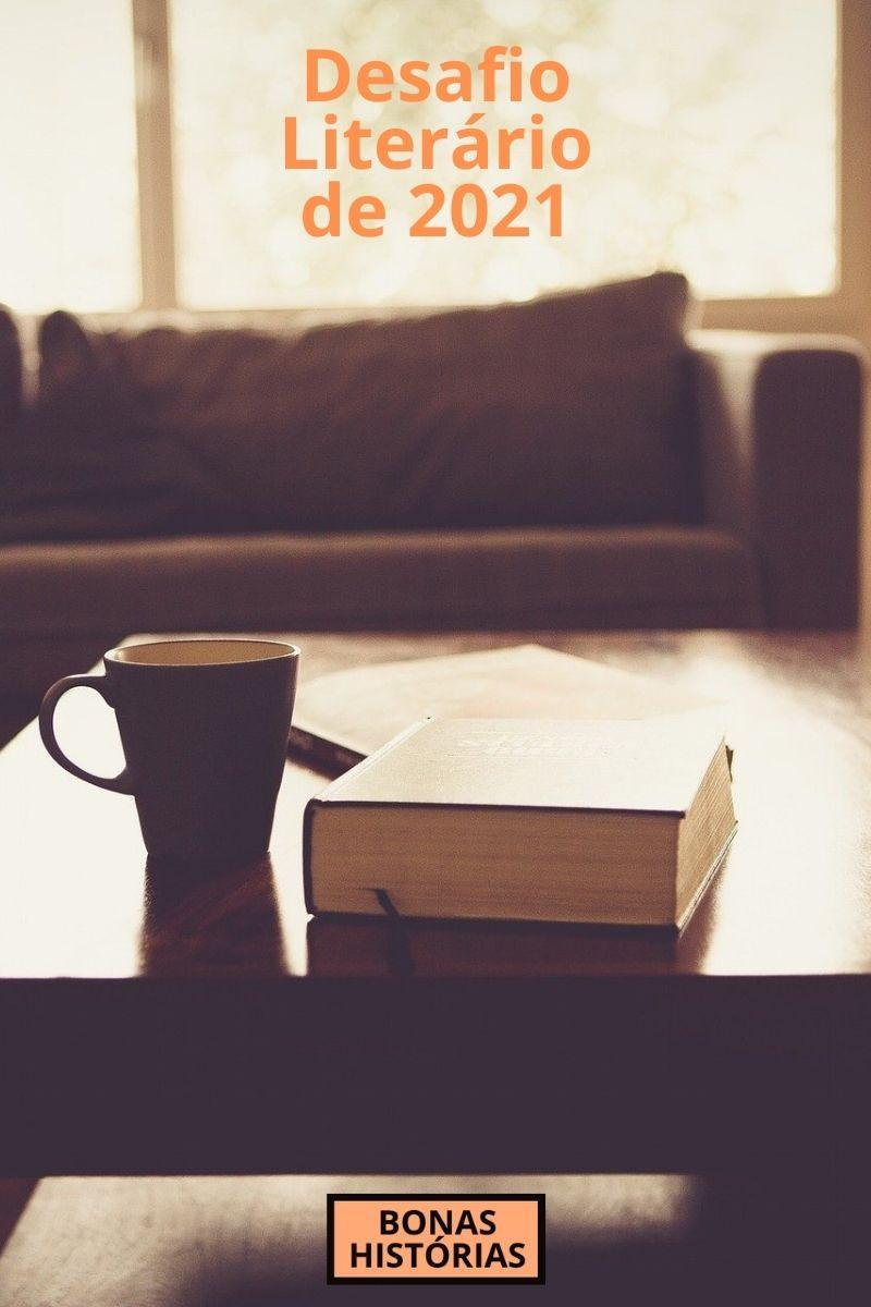Calendário do Desafio Literário de 2021