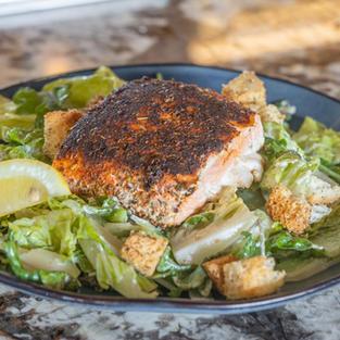 Blackened Salmon Caesar Salad