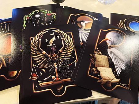 "Mythology of Cards thus far for the ""Ka of Egypt"" Deck"