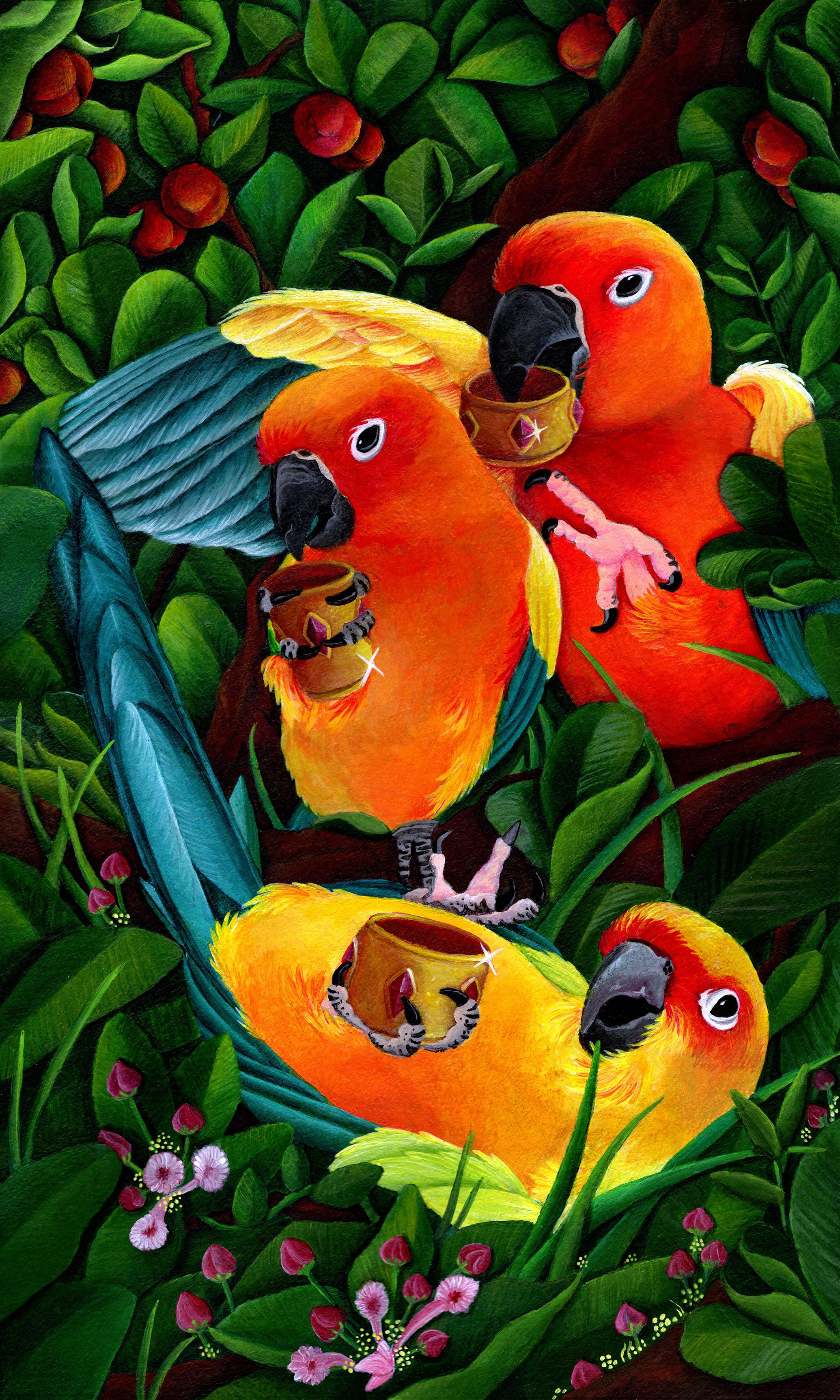 3ofCups 78 Tarot Animal Deck