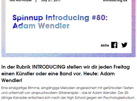 Spinnup Introducing: Adam Wendler