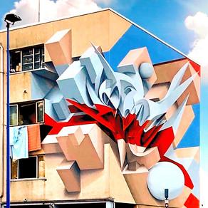 I murales di illusione ottica: una strabiliante trasformazione dell'arte astratta in 3D
