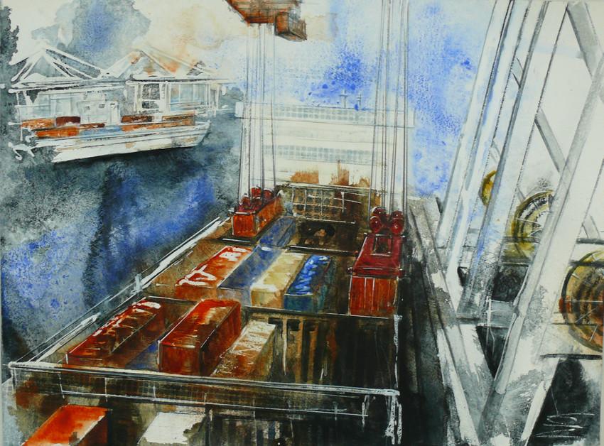 Hafen Aquarell II
