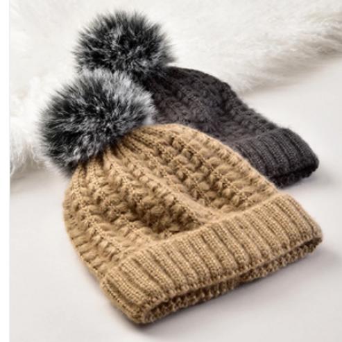 Pompom Knit Hat