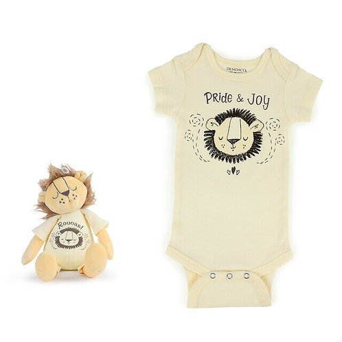 Pride and Joy Lion Snuggle Buddy Onesie and Plush Toy Set