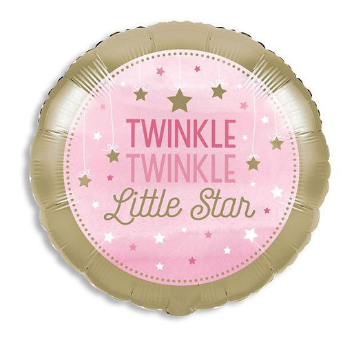 Twinkle Twinkle Pink Mylar Balloon