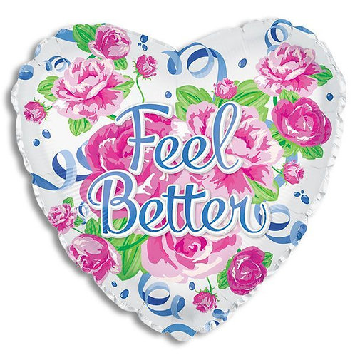 Feel Better Floral Mylar Balloon