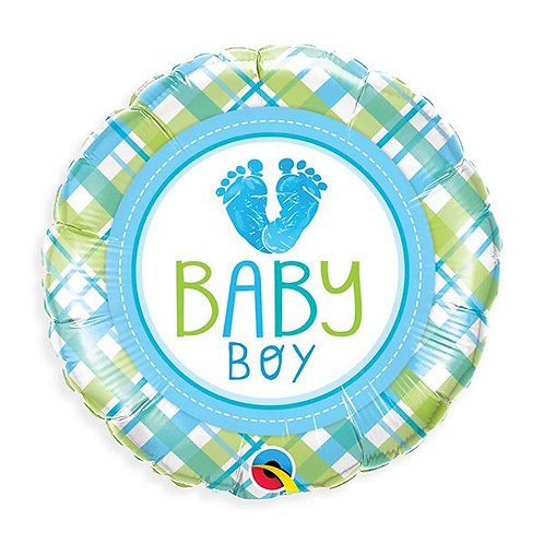 Baby Boy Feet Mylar Balloon