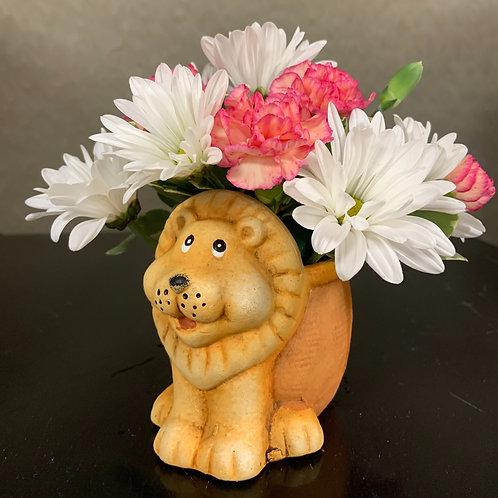 Lion Floral Arrangement