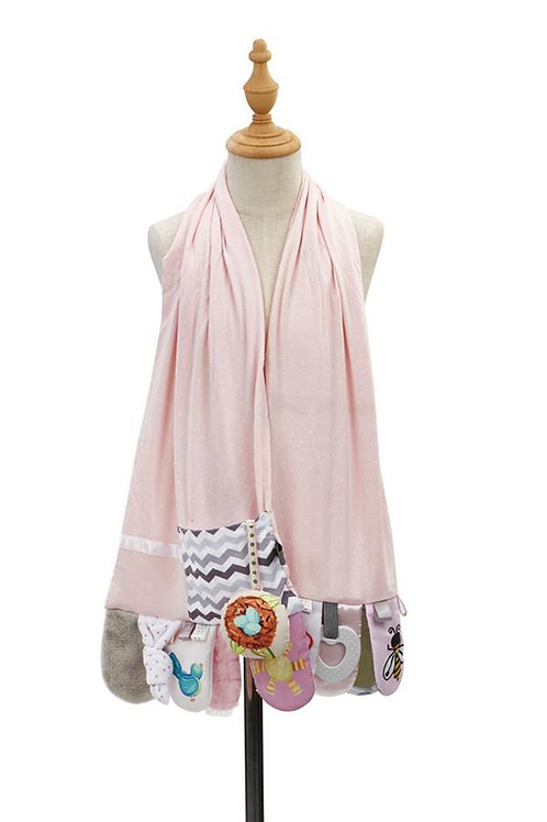 Mommy & Me Pink Activity Scarf