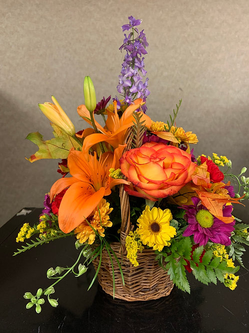 Fall Floral Basket