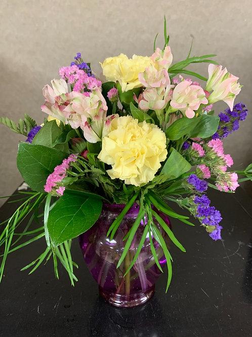 Purple & White Arrangement