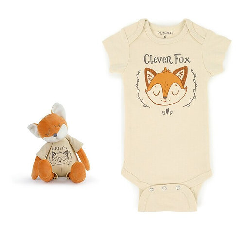 Clever Fox Snuggle Buddy Onesie and Plush Toy Set