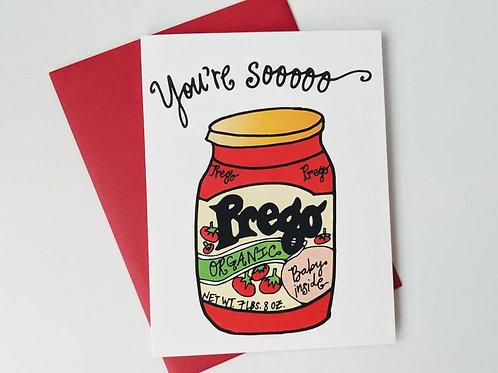 So Prego Card