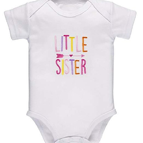 Little Sister Embroidered Onesie