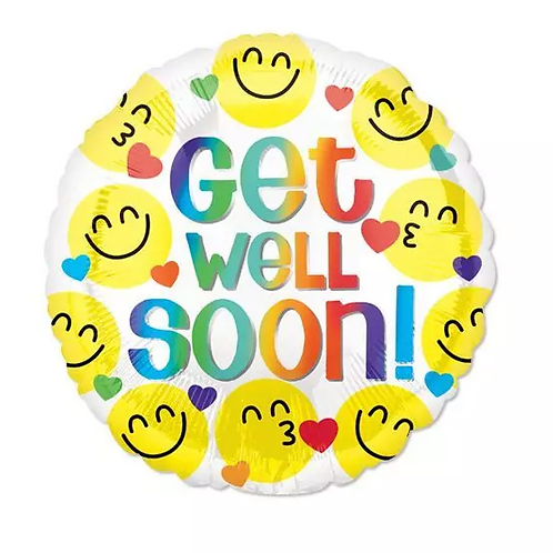 Emoji Get Well Soon Mylar Balloon