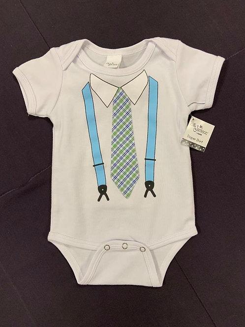 Tie and Suspender Onesie