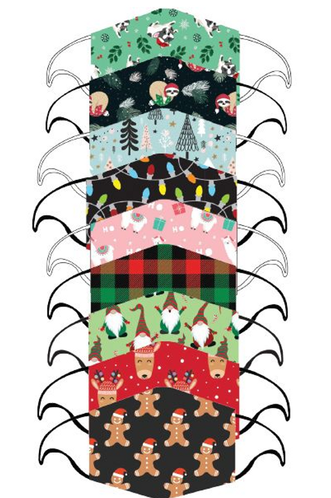 Kid Holiday Care Cover Double Layered Mask