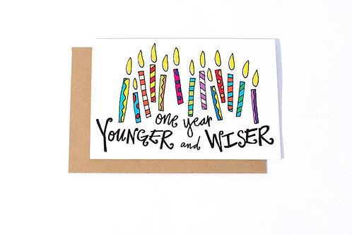 Younger Wiser Card