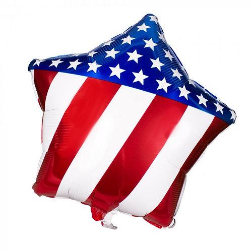 Patriotic Star Mylar Balloon