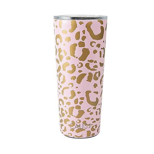 Caus Stainless Steel Large Tumbler - Pink Leopar
