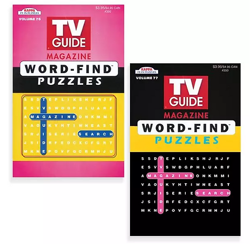 TV Guide Word Find