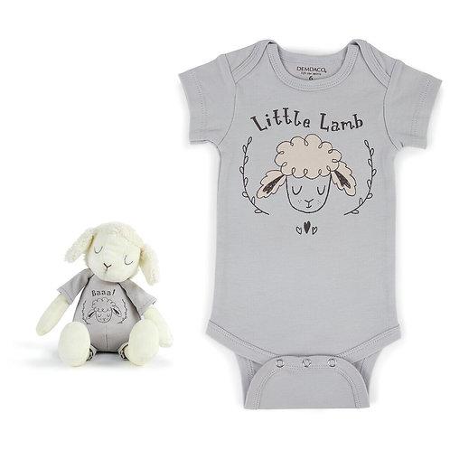 Little Lamb Snuggle Buddy Onesie and Plush Toy Set