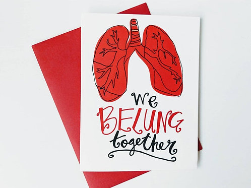Belung Together Card