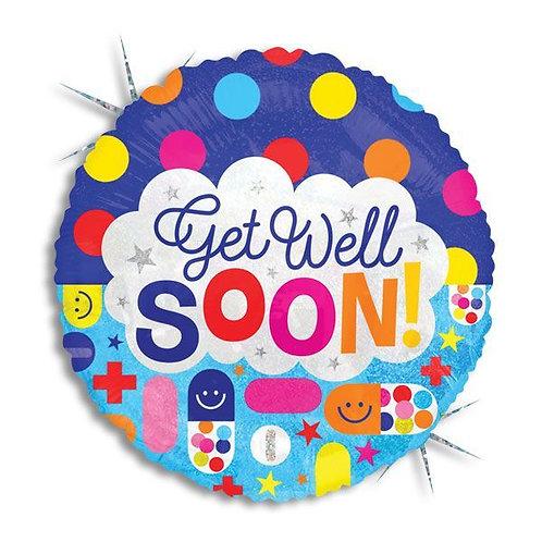 Get Well Soon Mylar Balloon