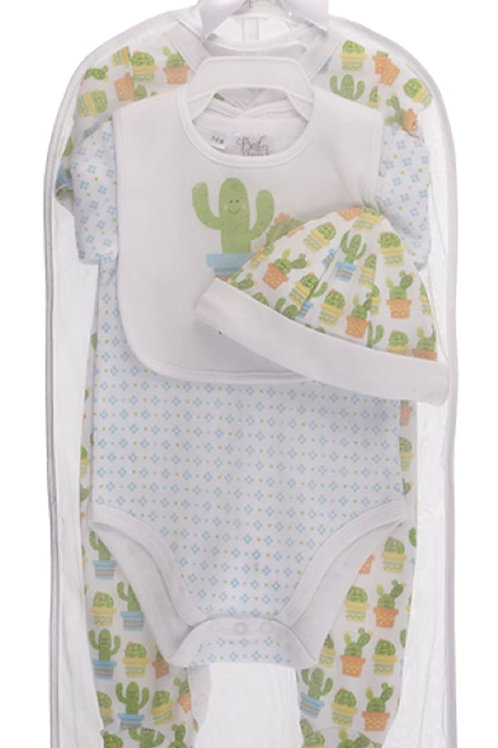 Cactus 4 pc. Layette Set