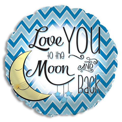 To The Moon and Back Mylar Balloon