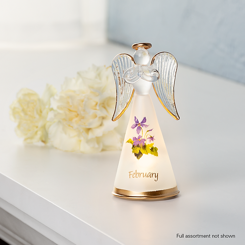 Flower of the Month Light Up Angel