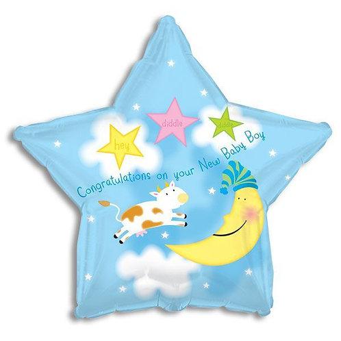 Star Boy Mylar Balloon