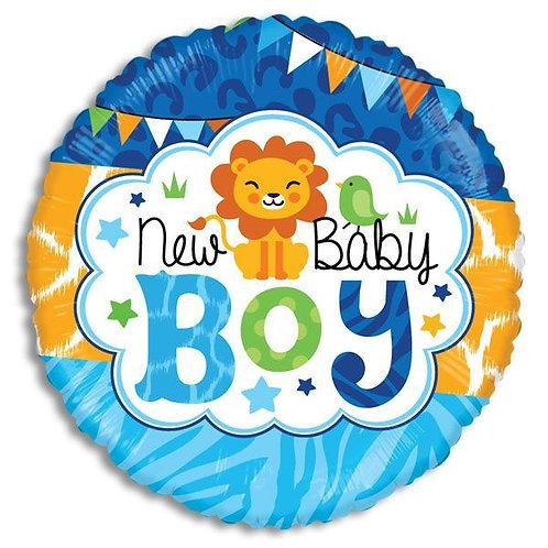 New Baby Boy Lion Mylar Balloon