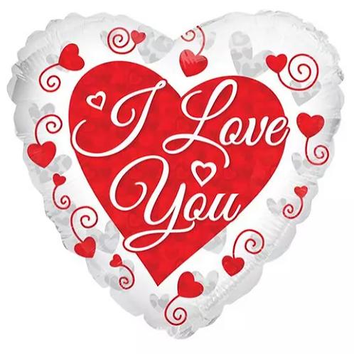 Love You Mylar Balloon