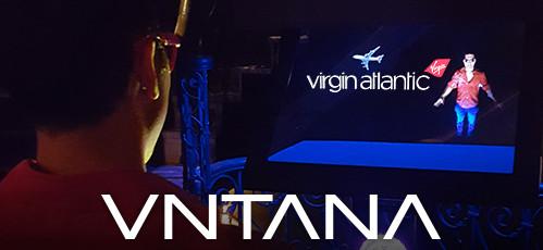 VNTANA HOLLAGRAM at Virgin Atlantic Event