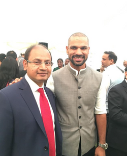 With Mr Shikhar Dhawan