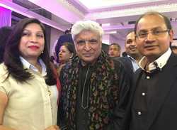 With Mr Javed Akhtar