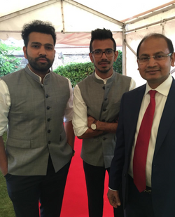With Mr Rohit Sharma