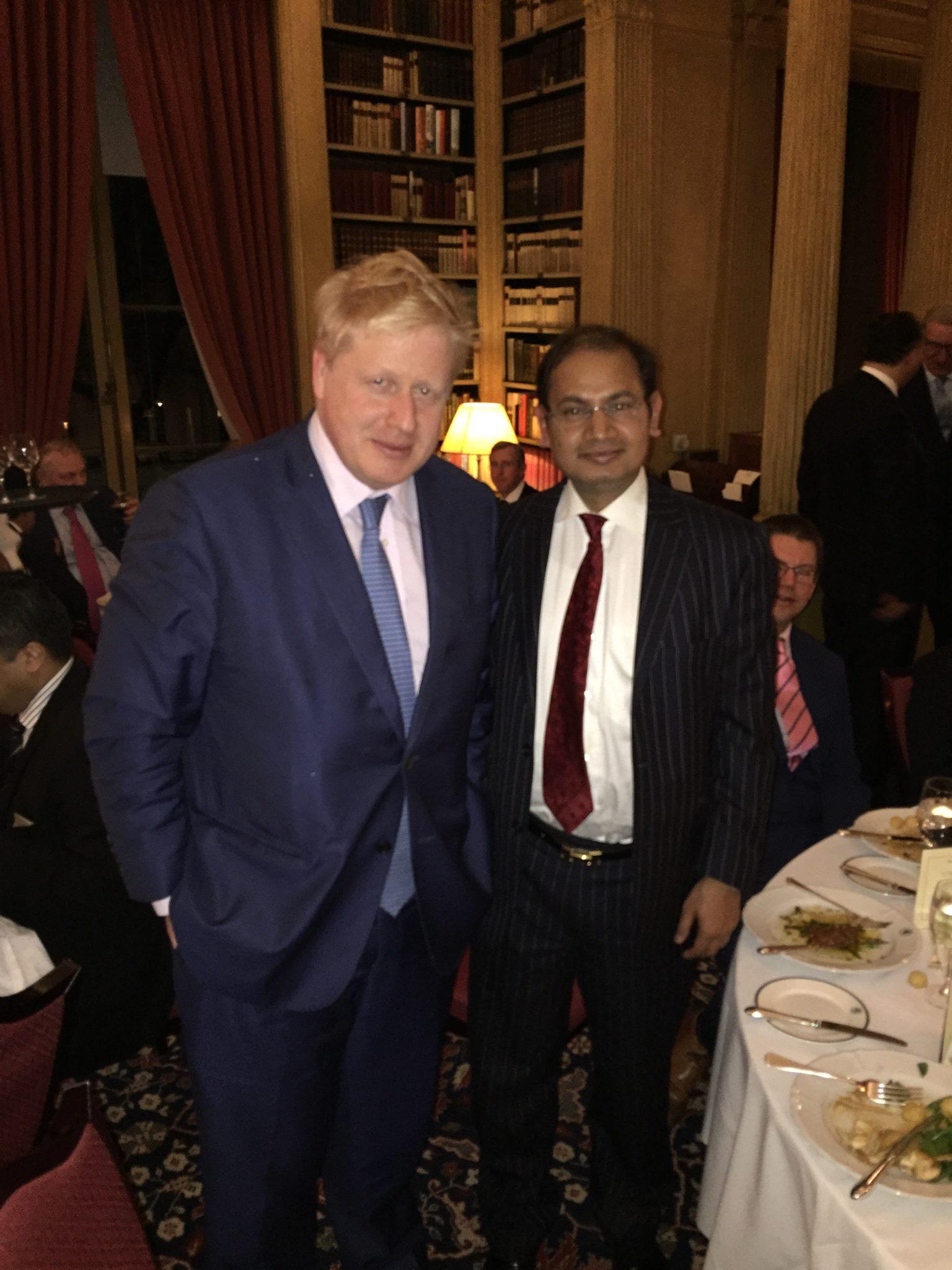 Dinner with Boris Johnson