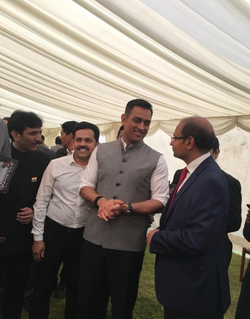 With Mr MS Dhoni